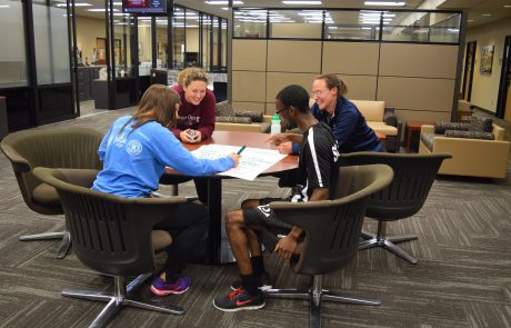 Group work during Assessment boot camp by 4 attendees